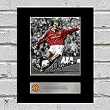 David Beckham Signiert Foto Display Manchester United FC