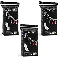 Nurture 100% Natural Cotton Surface, Winged, Widest Back, Ultra Long Pads 7s (Combo Pack of 3)