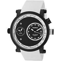 Red Line Specialist Herren-Armbanduhr 48mm Quarz Datum Analog 50037-BB-01-WHT