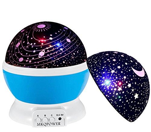 MKQPOWER der romantischen Licht des Kosmos + LED-Lampe 2Abdeckung 360Degree drehbar Licht Zimmer-Cosmos Sterne-Projektor für Weihnachten (violett)