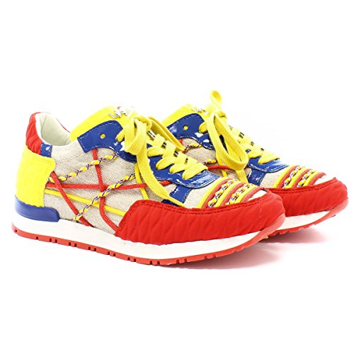 L4K3 Sneaker Mr Big U04 Neoprene Rosso Giallo 39