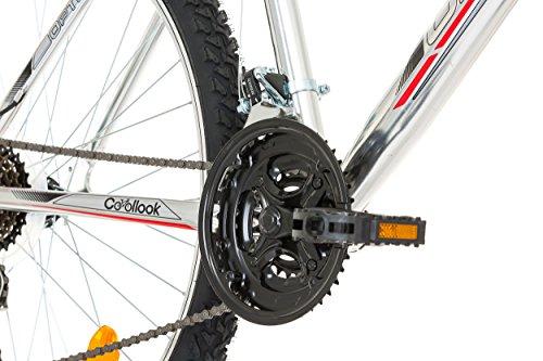 "51CB9auP4SL - CoollooK OPTIMUM Bicycle 26"" MAN, mountain bike, ALLOY wheels 18 speed Shimano WHITE GLOSS"