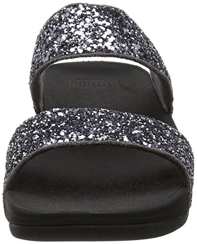 FitFlop - Glitterball Slide, Scarpe col tacco Donna Grey (Pewter)