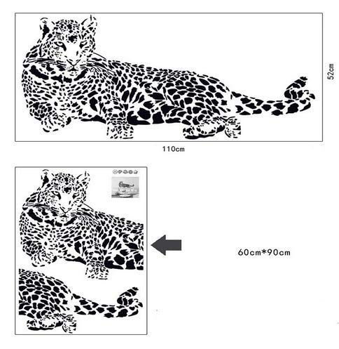 3D Wandaufkleber Wandtattoo Selbstklebend Black Pvc Wall Stickers Cheetah Leopard 3D Removable Wall Decals Home Decor Stickers Style: Solid Material: Plastic Theme: Animal Size: 1