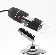 MK Mini 8 LED Light Magnifier USB Digital Microscope Endoscope Zoom Camera 800X w/Stand