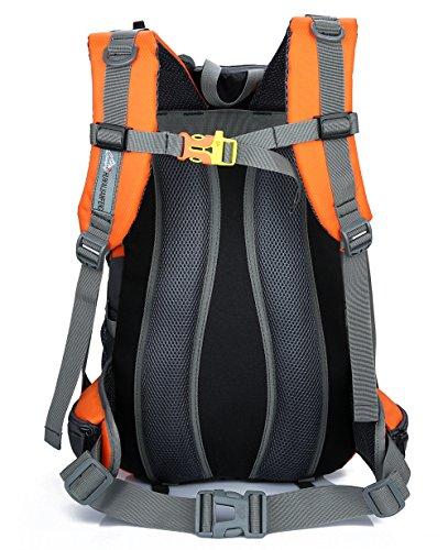X2X Zaino da Escursione 40l Outdoor Sports Bag Camping Viaggi Alpinismo Trekking Zaino da Sci (Nero) Arancia
