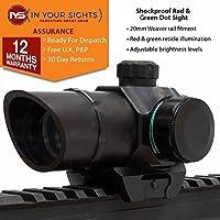 rojo y verde Visor de punto / ANTIGOLPES HOLOGRÁFICOS Rifle VISTA / AIRSOFT Vista