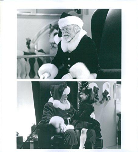 Vintage photo of Richard Attenborough as Kris Kringle and Mara Wilson as...