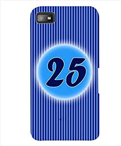 ColourCraft Numerology Number 25 Back Case Cover for BLACKBERRY Z10