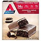 Atkins, Advantage, Cookies n 'Creme Bar, 5 Bars, 1,7 Unzen (48 g) Jeder