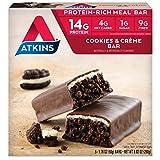 Atkins, Avantage, Barre de biscuits au creme de chocolat, 5 barres, 1,7 oz (48 g) de...