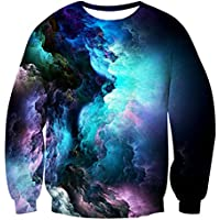 Uideazone Unsiex 3D Stampato Ugly Natale Pullover Felpe X-mas