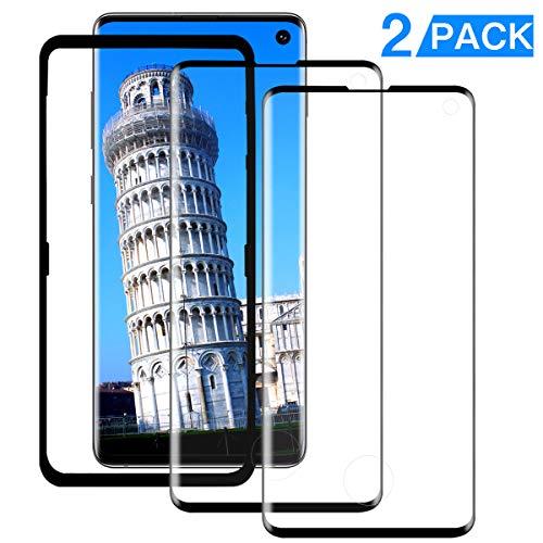 YRZZ S10 Panzerglas [2 Pack] [Ausrichtungsrahmen-Werkzeug] [3D-Vollabdeckung] [9H-Härte] [Blasenfrei] Gehärtetes Glas Bildschirmschutz für Samsung Galaxy S10