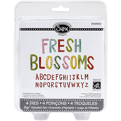 Sizzix Fresh Blossoms Bigz Alphabet-Set 4 stirbt (Name Card Scanner)