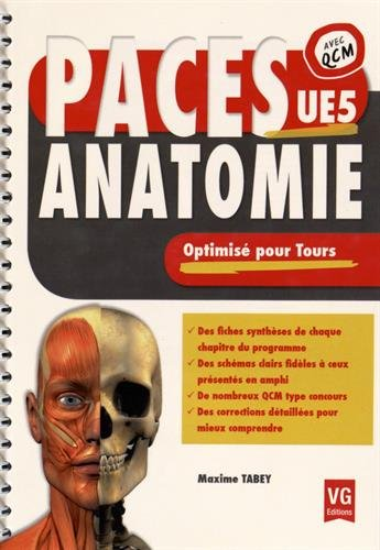 PACES anatomie UE5 : Optimisé pour Tours par Maxime Tabey