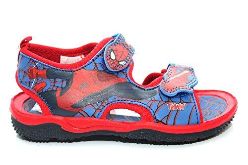 Costume de garçon Motif Spiderman Rouge été Chaussures Sandales pour femme Toutes tailles Bleu - bleu