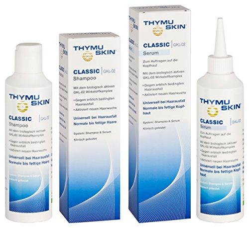 Thymuskin Classic Set (Shampoo + Serum) - Mittel gegen Haarausfall für Frauen & Männer - aktiviert neuen Haarwuchs - durch klinische...
