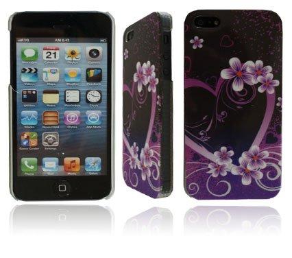 NEW Élégant floral Series Coque rigide violet pour Apple i Phone 55G