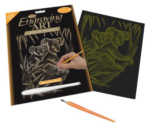 OLF17 - Engraving Art/Kratzbilder, DIN A4, Koala Bär, gold (Kaufen Koala-bär)