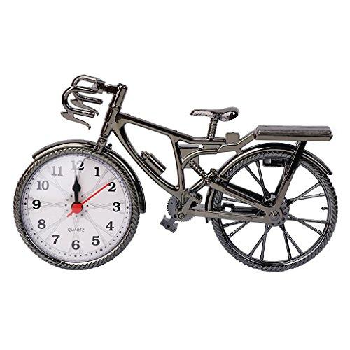 Exing Creative Retro Klassische Wecker Uhren Kunststoff Fahrrad Tisch Wanduhr Dekoration des Hauses Ornament