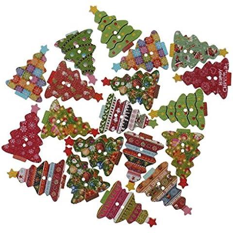 20 Piezas Guitarra Pinzas Botones De Madera Botones De Coser Ornamentos Ingredientes Bricolaje De Navidad - # 11
