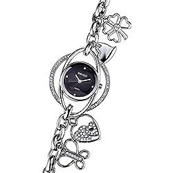 Kreativ Strass Quarzuhr Herz Schmetterling Anhänger Armband Uhr Für Damen