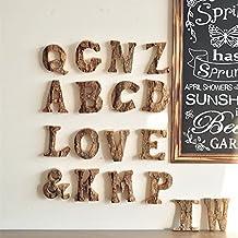 Legno lettere A-Z lettere dell' alfabeto arabo numeri 0–9decorazione per matrimonio casa decorazione X