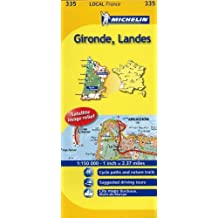 Michelin Map France: Gironde, Landes 335 (Maps/Local (Michelin)) (English and French Edition) by Michelin (2011-01-16)