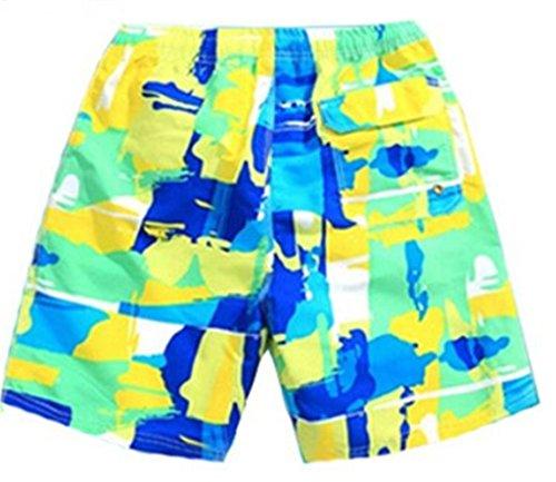 Tailloday Herren Shorts Hawaii Badeshorts und Badehosen Surfshort Grün2