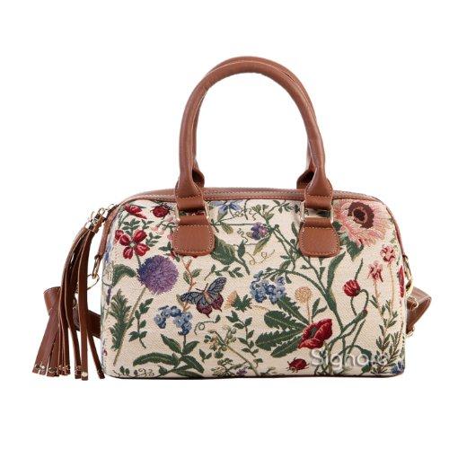 Signare sac d'épaule à poignée tapisserie mode femme jardin de matin