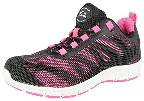 Groundwork , Damen sportliche Sicherheitsschuhe , rosa - rose - Größe: 36.5( 4 UK / EU 37, Rosa )