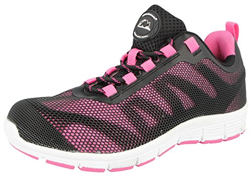 Steel Toe Slip (Groundwork , Damen sportliche Sicherheitsschuhe , rosa - rose - Größe: 36.5( 4 UK / EU 37, Rosa ))