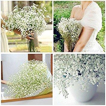 ainest 6x Künstliche Blumen, Seide, Gladiolen Baby 's Breath Floral Home Hochzeit Decor