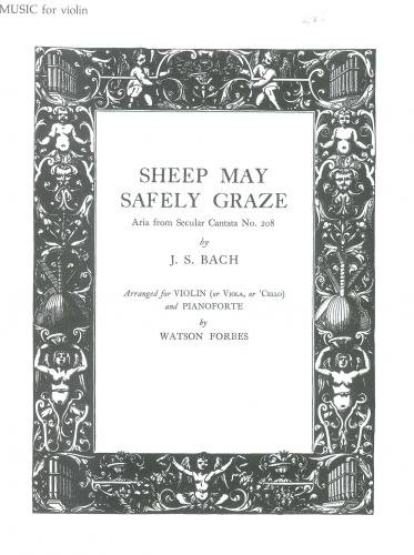Bach: Sheep May Safely Graze Aria from Cantata No.208