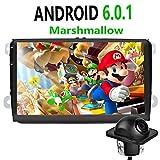 foiioe Autoradio für VW Seat Skoda Jetta Passat Golf Polo mit Android 6.0.1I GPS Navigation I 22,9cm 1280* 720Kapazitive Touchscreen I unterstützt WiFi I Bluetooth i4gi 3GI USB Campingtoilette interner Speicher 16GB i 2DIN