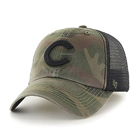 MLB Chicago Cubs Beaufort Closer Stretch Fit Hat, One Size, Sandalwood