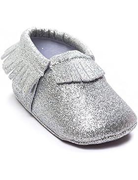 BZLine® Baby Kinderbett Quasten Pailletten weiche Sohle Sneaker Schuhe Babyschühchen
