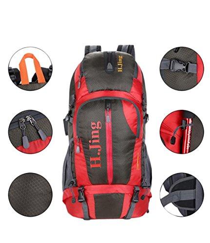 borsa tracolla alpinismo professionale 50L grande capacità di campeggio esterna , orange Green