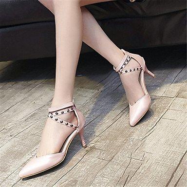 LvYuan Da donna-Sandali-Formale Casual Serata e festa-Altro-A stiletto-Felpato-Nero Rosa Leopardo Pink