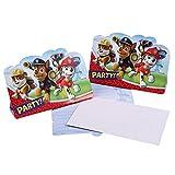 Paw Patrol - Patrulla Canina - Fiesta de Cumpleaños Invitación de la Fiesta 8 pcs.