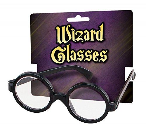shoperama Zauberer Kostüm-Zubehör Brille Erwachsene Magier Zauberlehrling, Auswahl:Brille (Steve Jobs Brille)