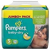Pampers Baby Dry Größe 5 Junior 11-25kg Jumbo Plus Pack (1 x 72 Windeln)