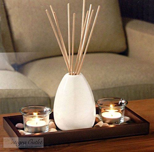 Ceramic-Vase-Reed-Diffuser-Candle-Set-With-Wooden-Tray-Stones
