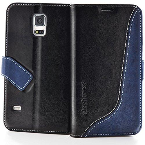 elephones Schutzhülle geeignet für Samsung Galaxy S5 / S5 NEO Hülle Handyhülle Handy-Tasche Wallet Case Cover