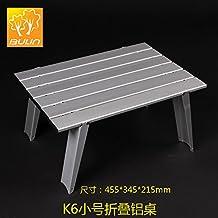Xing Lin Mesa Al Aire Libre Exterior De Aleación De Aluminio Portátil Mesa Plegable Mesa De Ordenador Mesa De Picnic Camping Bolso Ligero Portátil, K6 Trompeta De Aluminio Plegable Tabla
