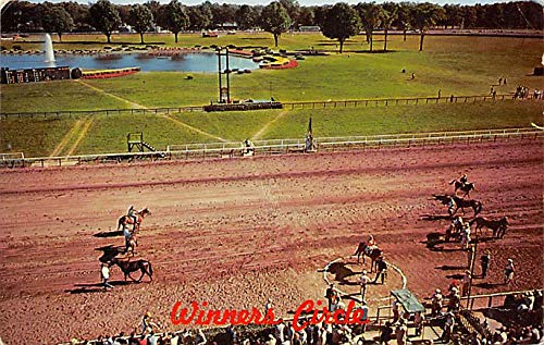 Saratoga Race Track, Saratoga Springs, NY USA Horse Racing Old Vintage Antique Postcard 1969 - Saratoga Track