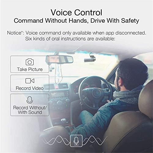 51CBPI851aL - 70mai Grabador de Conducción de Automóviles Cámara de Dash 1080 P Full HD Smart Car DVR Versión Nocturna 130 Grados FOV Camo Dash CAM G-Sensor Dashcam Control de Voz Inglés, Negro