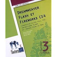 Dreamweaver, Flash et Fireworks CS4 - Coffret de 3 livres : concevoir sites full CSS, animations Flash et images pour le Web