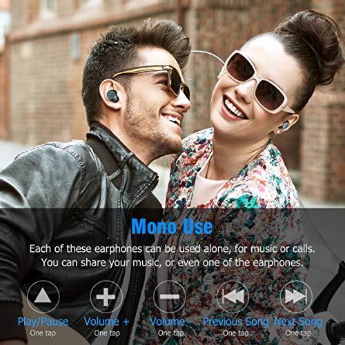 Bluetooth Kopfhörer Muzili V5.0 Bluetooth Kopfhörer in Ear, TWS Hi-Fi Bluetooth Headset kabellos IPX5 Wasserdicht Kopfhörer mit Mikrofon und 3000mAh Ladebox für Samsung Huawei Sony Black Berry HTC - 5