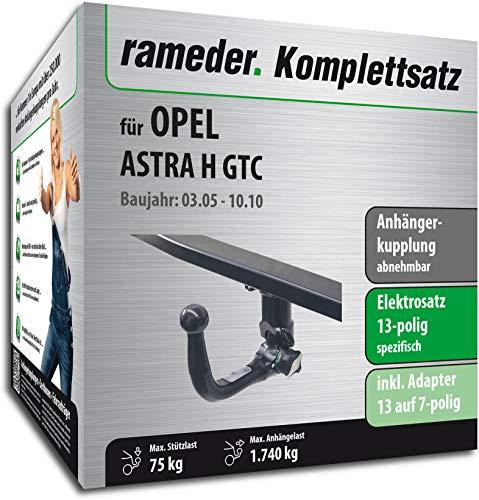 Rameder Komplettsatz, Anhängerkupplung abnehmbar + 13pol Elektrik für OPEL Astra H GTC (131245-05209-18)